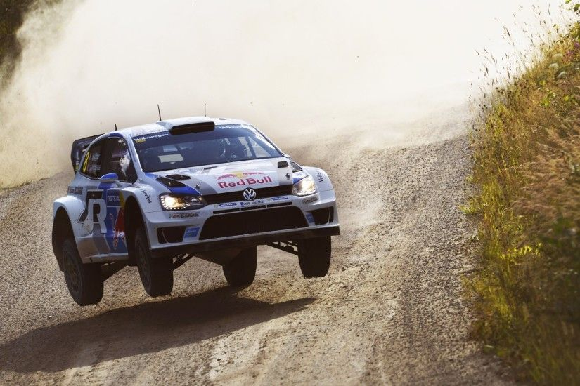 volkswagen polo wrc rally car speed in the air rally