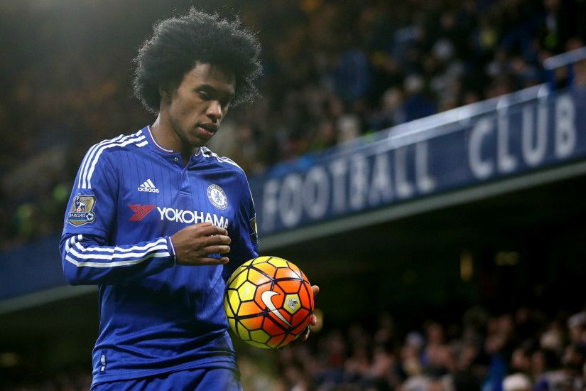 Chelsea Willian With Ball. Wallpaper ...