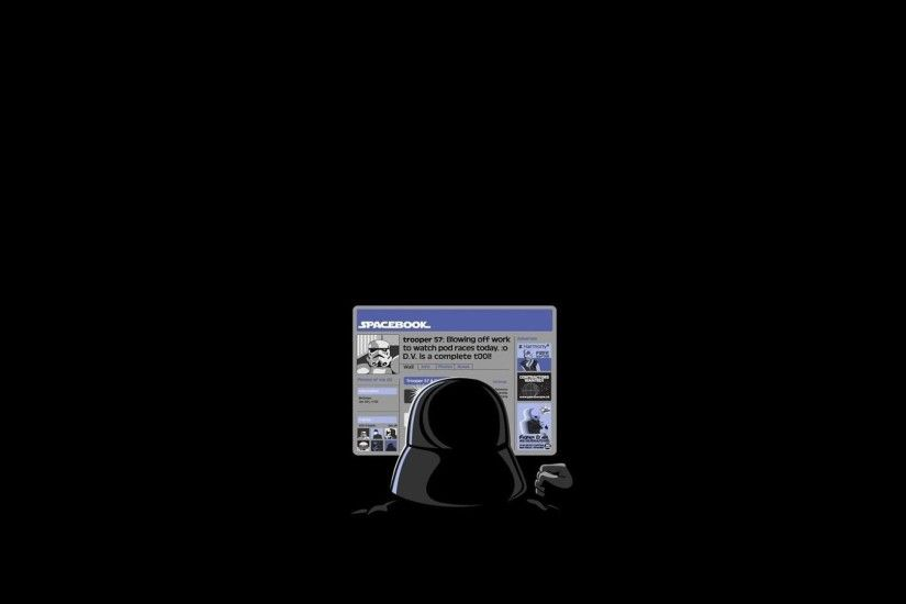 Black Background Darth Vader Facebook Funny Star Wars Stormtroopers