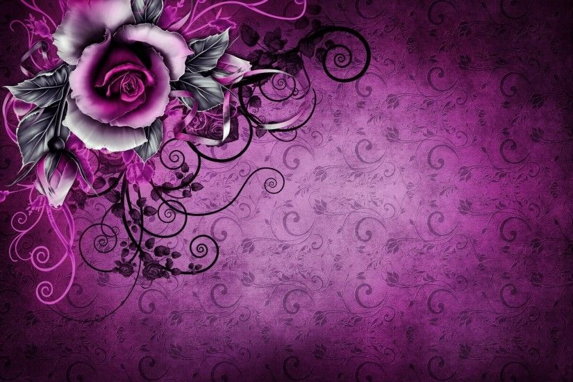 vintage grunge rose paper wallpaper purple floral texture vintage background  textures rose