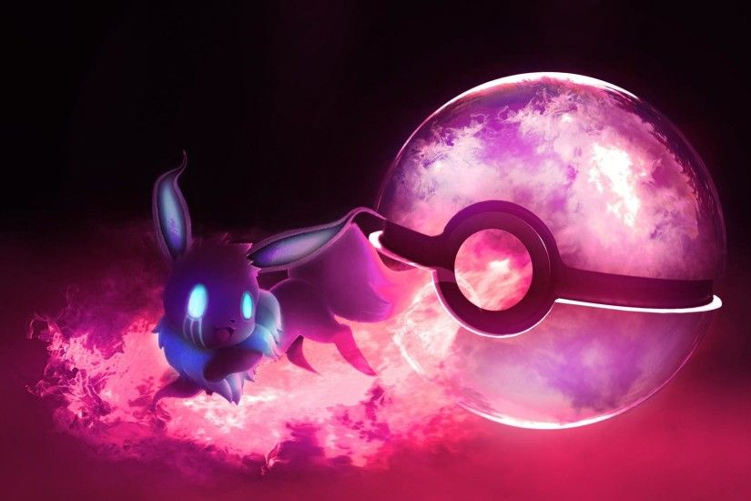 Eevee ghost pokeball wallpaper | (53637)
