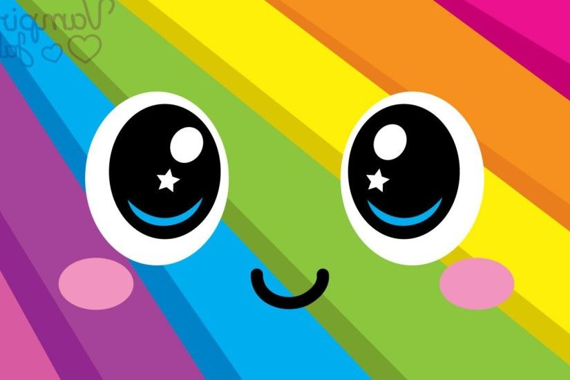 Colorful Smiley Face HD Desktop Wallpaper, Background Image
