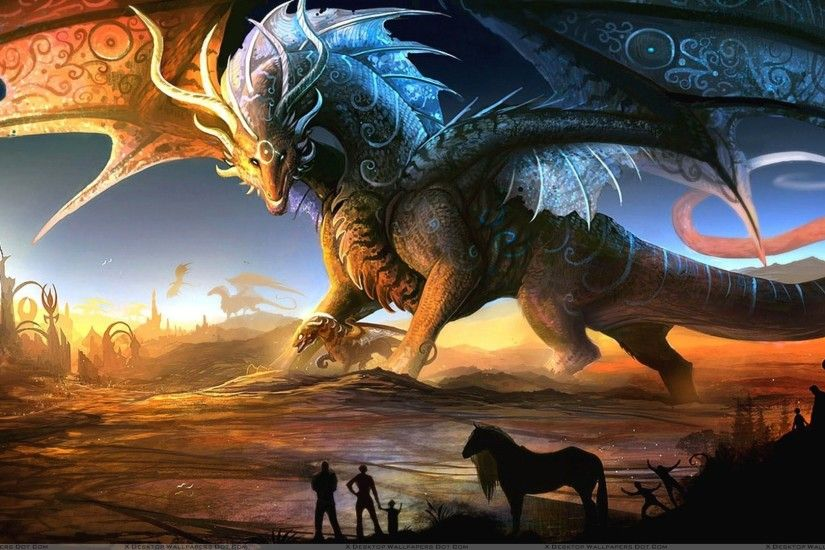 "You are viewing wallpaper titled ""Dragon Fantasy Art"" ..."