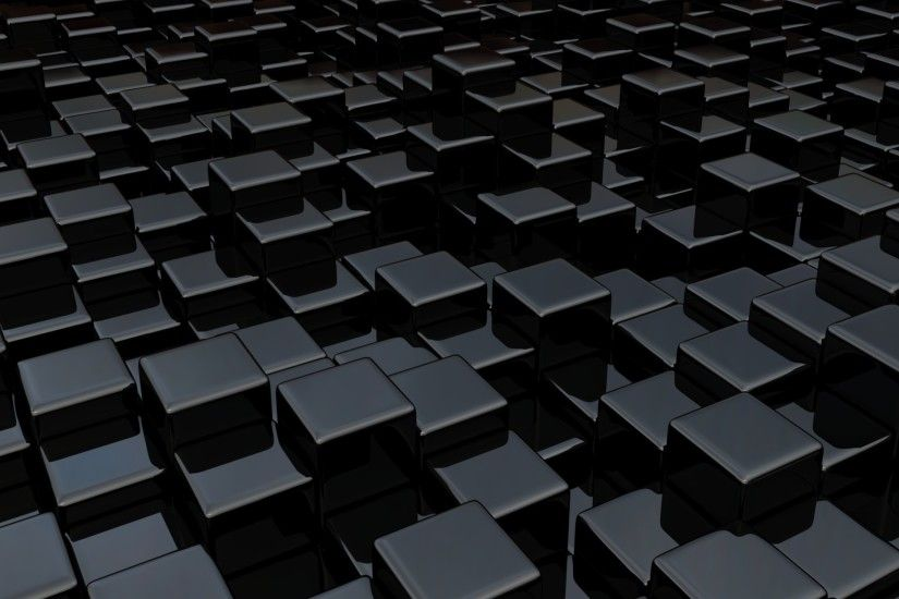 Black cube world wallpaper in 1920x1440 screen resolution
