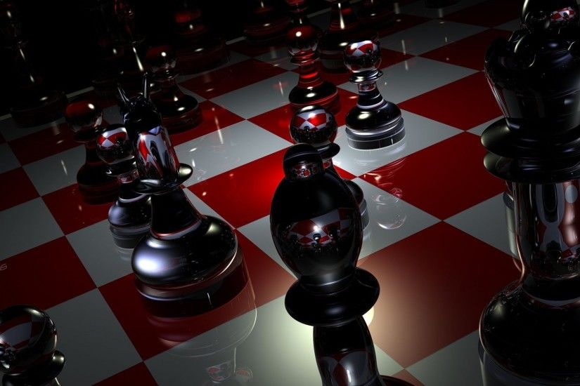 Preview wallpaper pieces, chess, boards, glass 1920x1080
