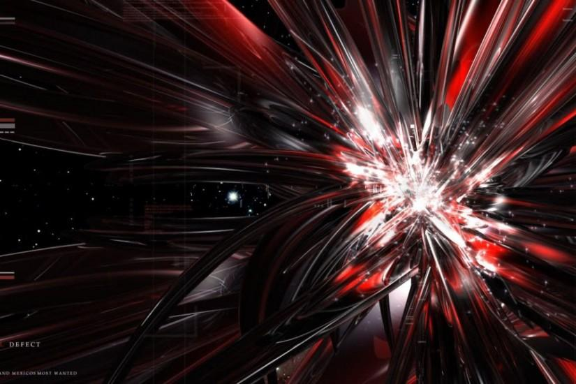 Black and Red Abstract Computer Wallpaper b
