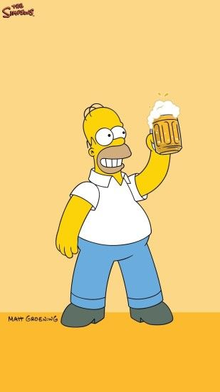Homer Simpson Beer lock-screen phone wallpaper background #homer # homersimpson #simpsons #lockscreen #phonewallpaper #iphonewallpaper  #androidwallpaper ...