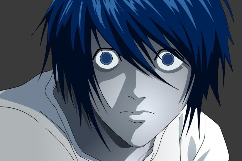 Preview wallpaper death note, l, face, agent 1920x1080