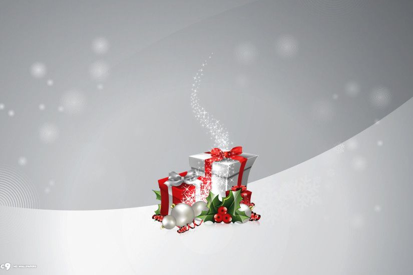 christmas presents magic minimalistic gray white holiday desktop background