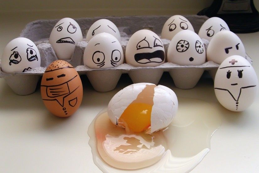 Funny Eggs HD wallpaper