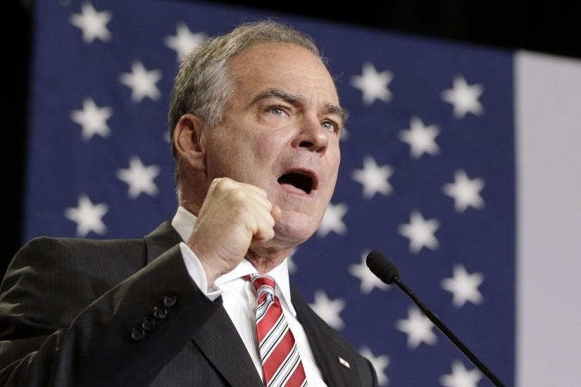 Kaine touts foreign policy background, hits Trump in speech - The San Diego  Union-Tribune