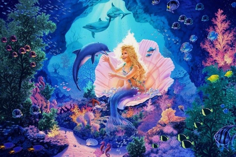 Little Mermaid Princess wallpapers and stock photos