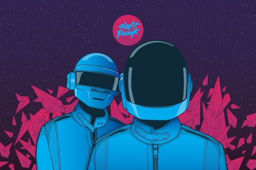1920x1080 Preview wallpaper daft punk, graphic, helmet, music 1920x1080
