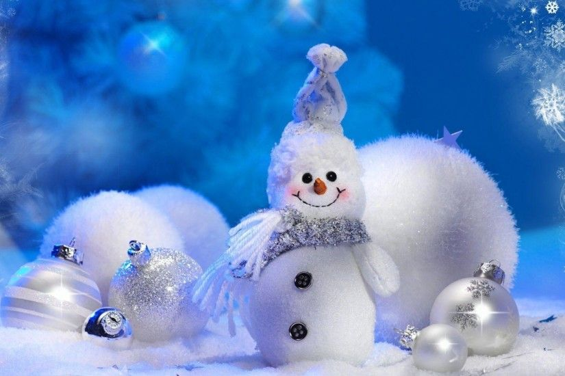 snowman, christmas decorations, smile