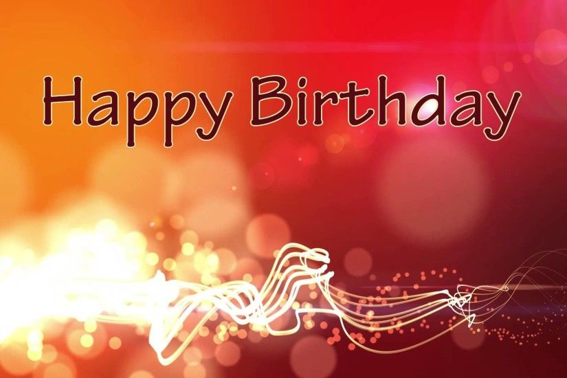 Happy Birthday - Motion Graphics Background - Flying Lines and Bokeh -  YouTube