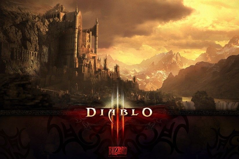 Preview wallpaper diablo 3, city, world, castle 3840x2160