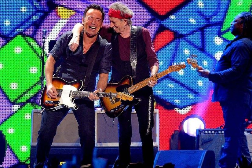 Bruce Springsteen with Keith Richards wallpaper