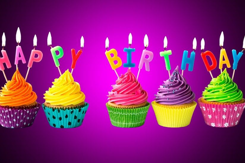 Happy birthday colorful cake candle high definition wallpapers