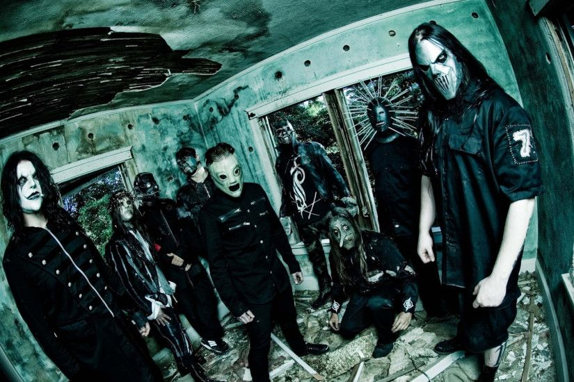 1920x1080 Wallpaper slipknot, band, members, masks, room