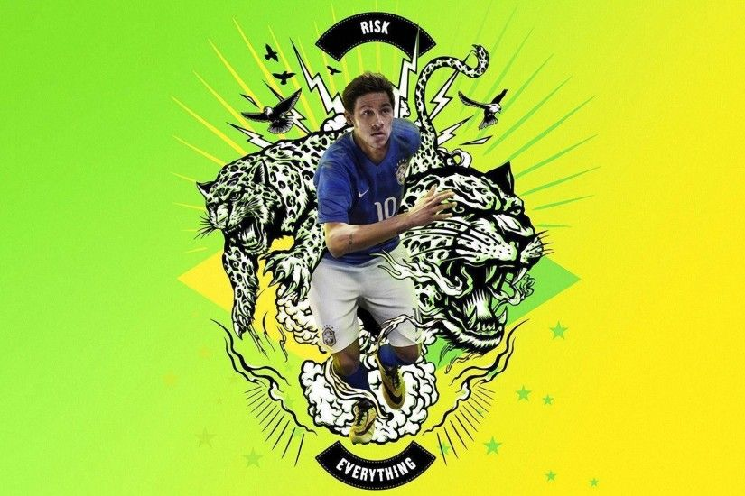 Neymar 2014 Brazil Nike Risk Everything Wallpaper Wide or HD .