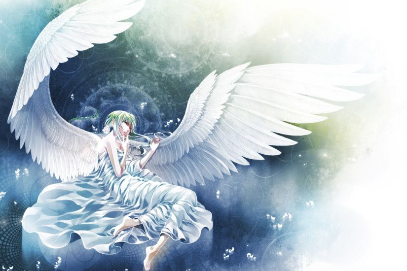 Beautiful white angel Wallpaper from Anime & Manga.
