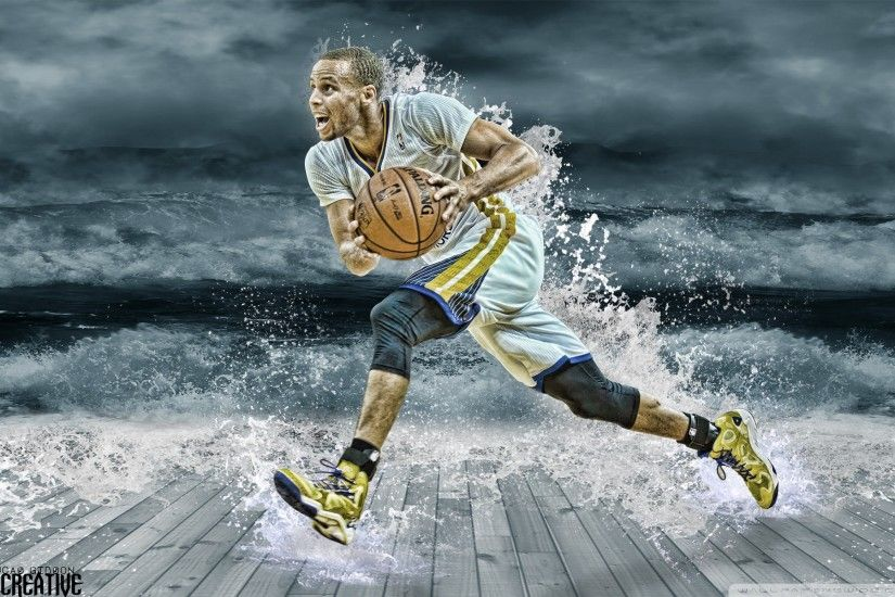 Stephen Curry Splash Wallpaper Wide