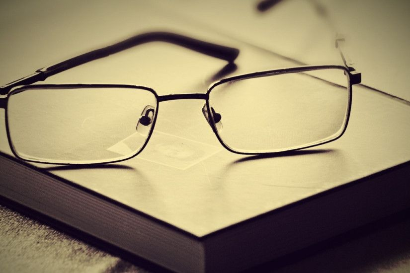 3840x2160 Wallpaper book, glasses, lenses, frames