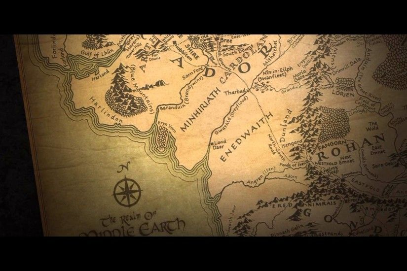 Map Of Middle Earth Wallpaper Wallpapertag