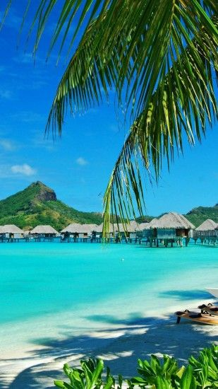 Bora Bora Resort Bungalows iPhone 6 Plus HD Wallpaper ...