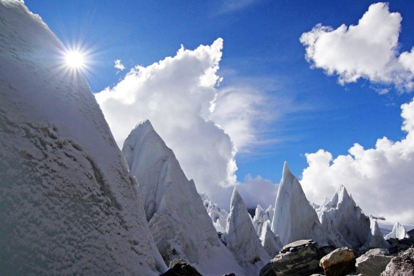 ... Himalayas Nepal Tibet Clouds Himalayan Huge Barren China Mountains .