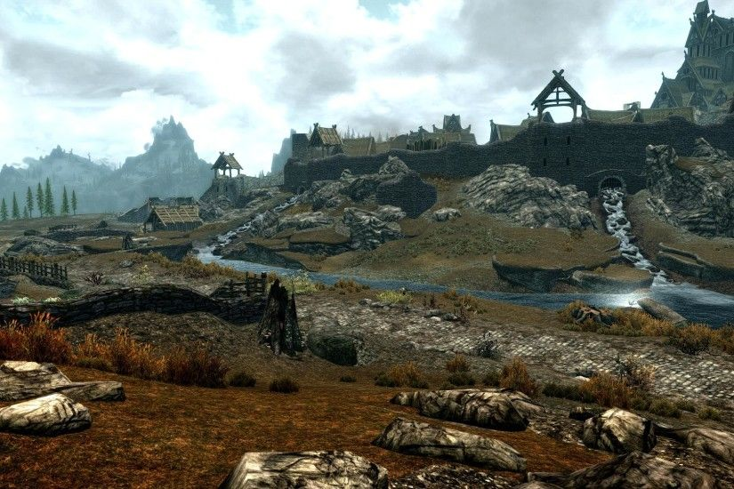 Skyrim Landscape Photo. Stunning Skyrim Landscape Wallpaper