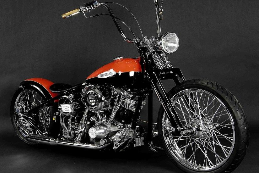 Free desktop wallpapers and backgrounds with Two Tone Harley Davidson,  bike, chopper, harley davidson, motorcycles. Wallpapers no.