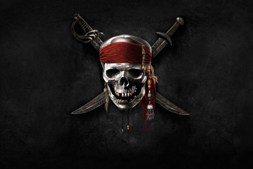 Pirates of The Caribbean Logo Movie Cover Wallpaper