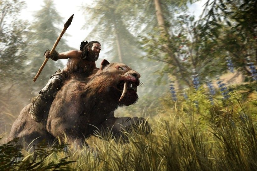 Takkar Riding Saber Toothed Tiger Beastmaster Far Cry Primal