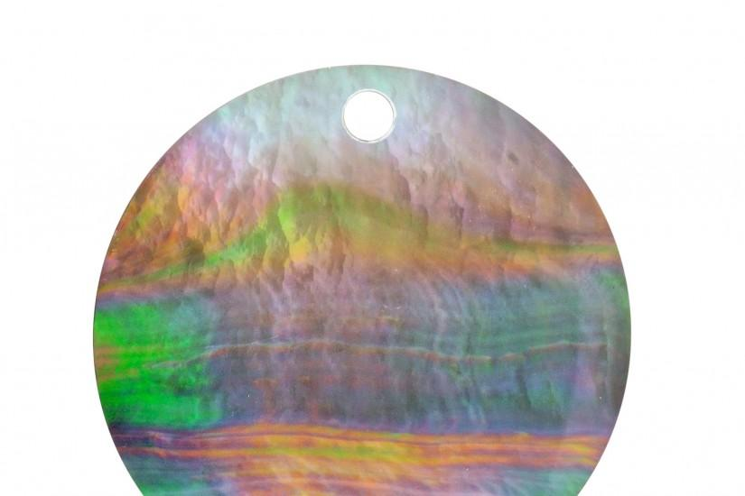Metalsmiths Lunetta Collection Large Black Mother of Pearl Background Disc