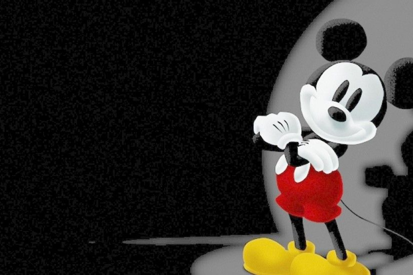 Mickey Mouse In Black Background Photos