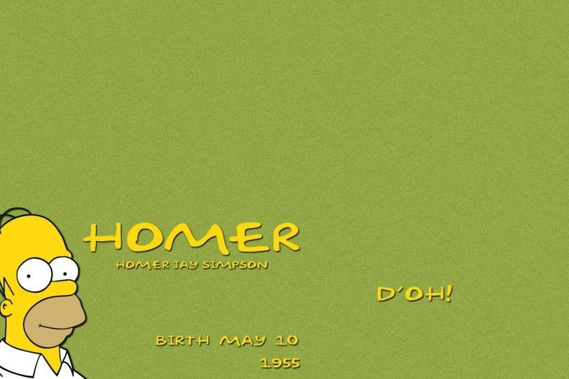 1920x1200 Homer Simpson Background