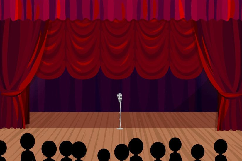 Rising Curtains: Cartoon Stage Background Motion Background - VideoBlocks