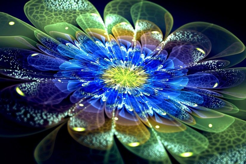 Neon Flower Wallpaper 1080p ...