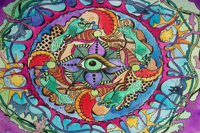The Eye Knows All Psychedelic wallpapers and stock photos