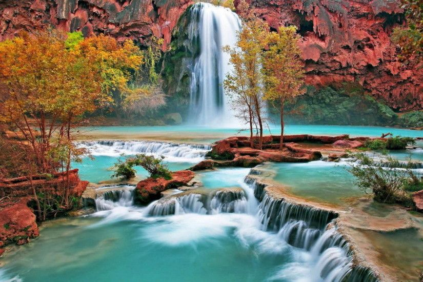 ... 3D Autumn Waterfall Wallpaper - Android Apps on Google Play ...