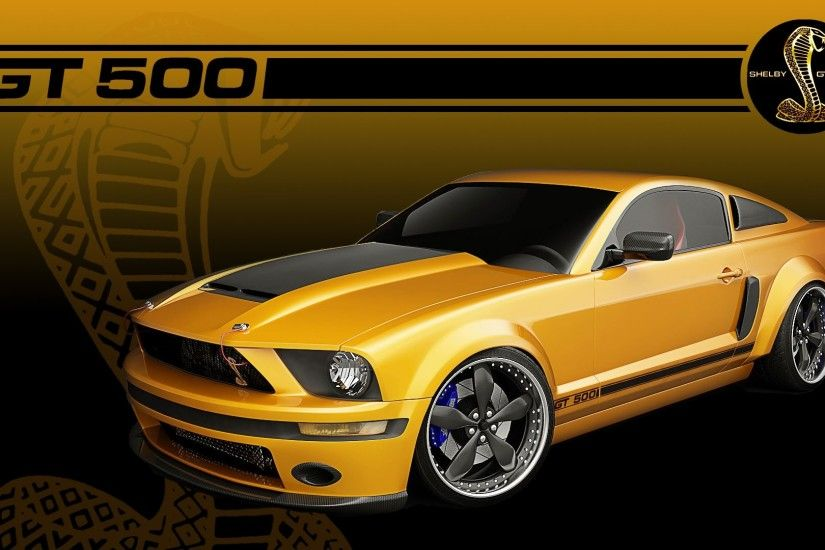 Vehicles - Ford Mustang Shelby GT500 Gold Car Vehicle Ford Ford Mustang  Wallpaper