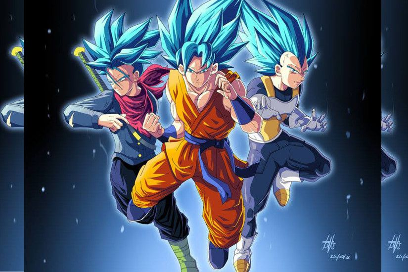 ... Trunks, Goku and Vegeta for Super Saiyan Wallpaper