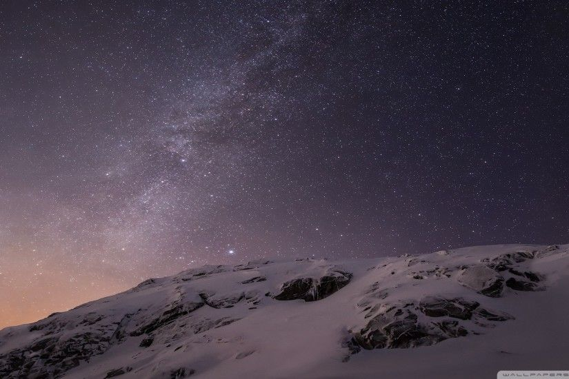 Apple iOS Mountains and Galaxy HD Wide Wallpaper for 4K UHD Widescreen  desktop & smartphone