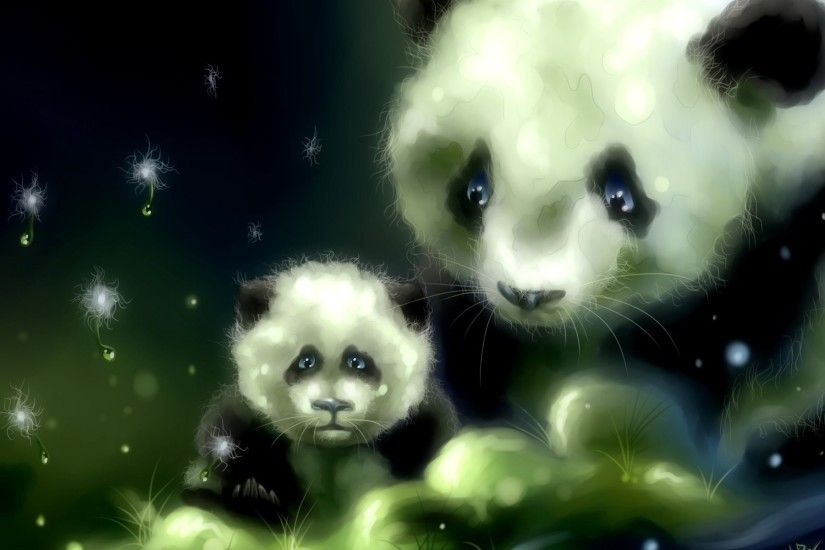 Art panda bears babies cute wallpaper | 1920x1200 | 39807 .