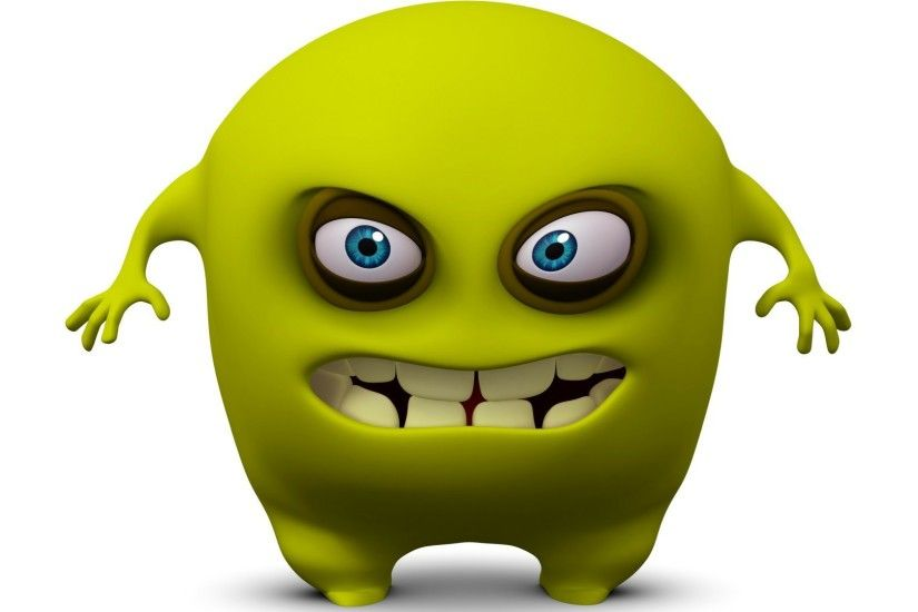 Free 3d funny monster cartoon cute wallpapers download