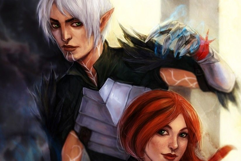 1920x1080 Wallpaper dragon age, hawke, fenris, art