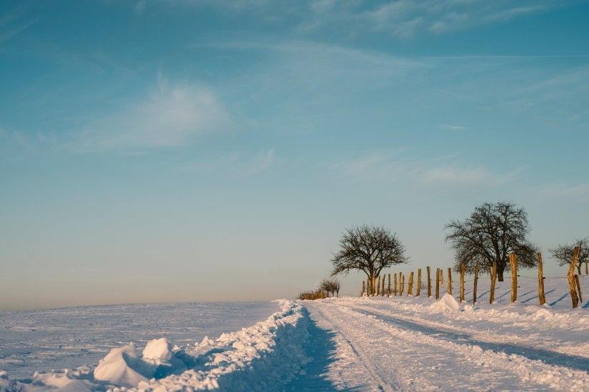 4K HD Wallpaper: The Calm Winter Nature · Picture with frozen & snowy  landscape