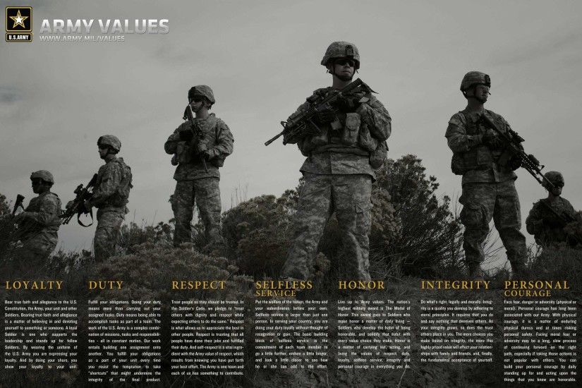 0 US Military Backgrounds Us Army Core Values Wallpaper HD Wallpaper