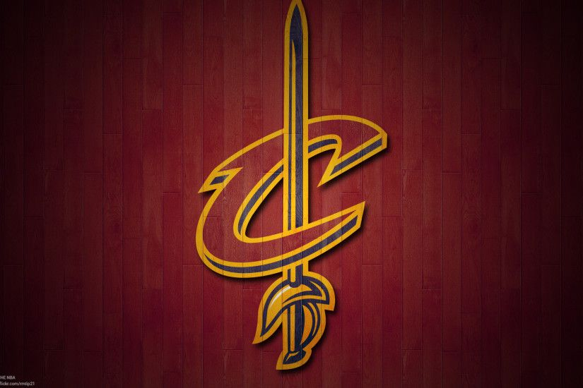 NBA 2017 Cleveland Cavaliers hardwood logo desktop wallpaper